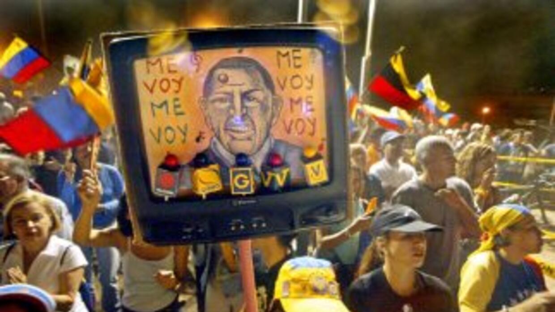 Opositores a Hugo Chávez convocaron a una marcha pacífica.