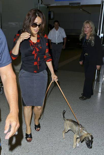 La veracruzana llegó al aeropuerto presumiendo al más reciente integrant...