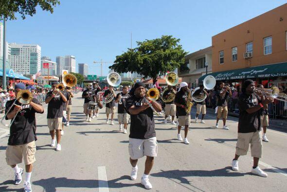 Los musicos del Heat Street Band de los Miami Heat.