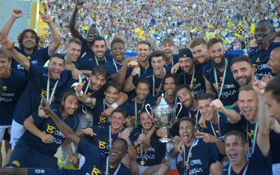 Con estos dos goles el Parma consiguió su ascenso a la Serie B y se acer...