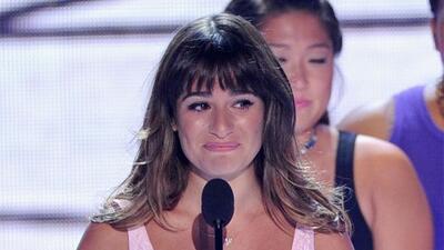 """La protagonista de """"Glee"""" dedicó su Teen Choice Award a la memoria de Co..."""