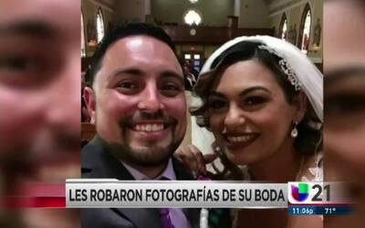 Les robaron fotografías de su boda