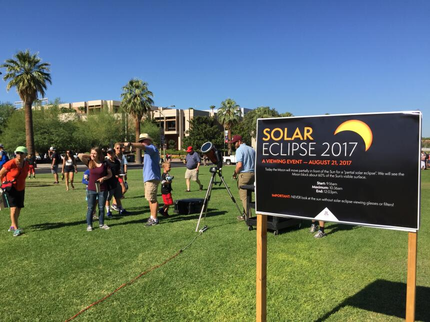 Eclipse Solar 2017 en el Planetario de la Universidad de Arizona