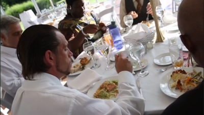 Asistentes al banquete de su boda cancelada en Indianapolis