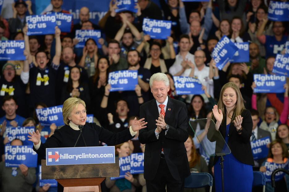 La demócrata Hillary Clinton reconoció la victoria de Bernie Sanders