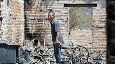 La devastación tras el paso del incendio 'Blue Cut' en California