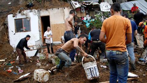 Decenas de muertos y desaparecidos por los deslaves en Manizales, Colombia