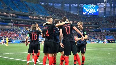 En fotos: Croacia pasó a cuartos de final de Rusia 2018 tras eliminar a Dinamarca