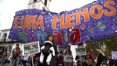 Protesta contra la violencia de género en Argentina en abril de este año.