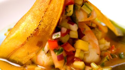 Ceviche de camarón jumbo