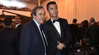 El presidente de la UEFA felicitó personalmente a CR7 previo a ganar su...