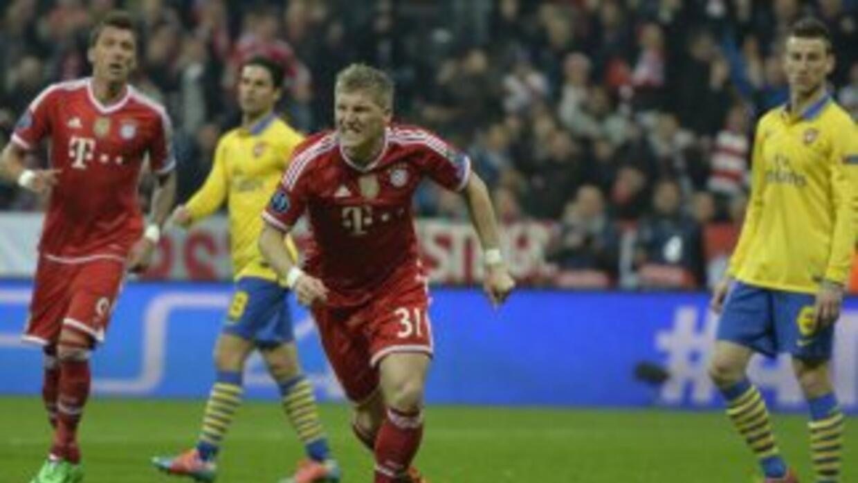 Schweinsteiger había adelantado a los bávaros, pero casi de inmediato ll...