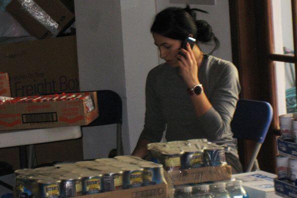 Albita estuvo todo el tiempo coordinando y pidiendo la ayuda.