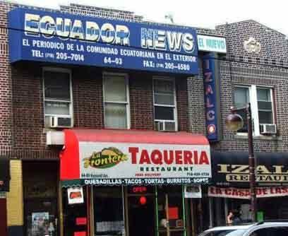Un periódico con noticias de Ecuador, una taquería mexicana y un restaur...