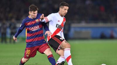Messi marcó un gol en el juego ante River