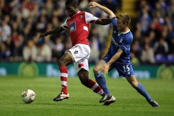 Braga, el actual subcampeón de la justa, jugó en Inglaterra ante el Birm...