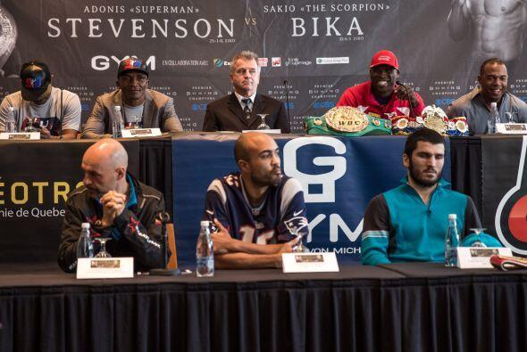 Adonis Stevenson y Sakio Bika dieron conferencia de prensa y prometieron...