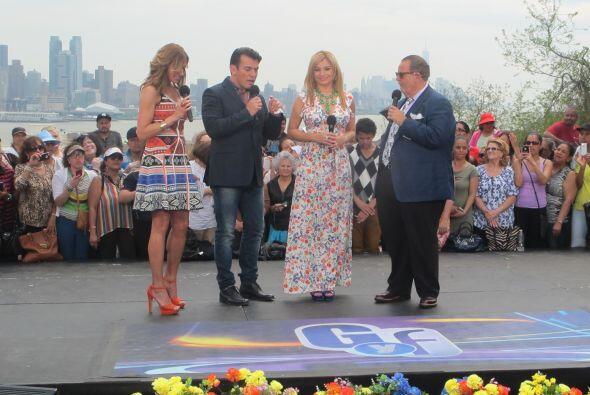 Los actores llegaron a la ciudad para acompañar a Raúl y Lili en este pr...