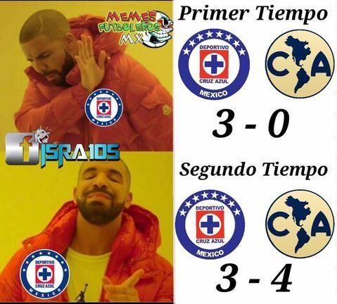 Memes Cruz Azul vs. América