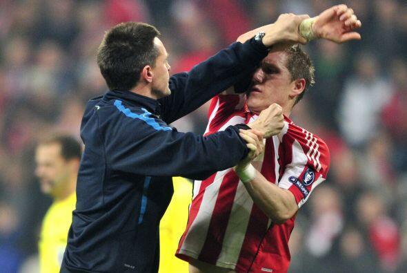 La parte negativa del encuentro se dio con algunos futbolistas que parec...