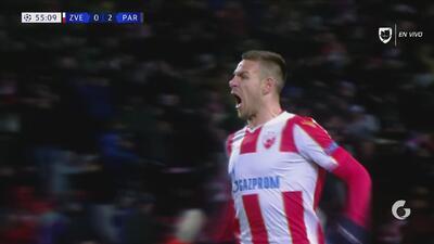 ¡Estrella Roja se acerca con gol de Gobeljic!