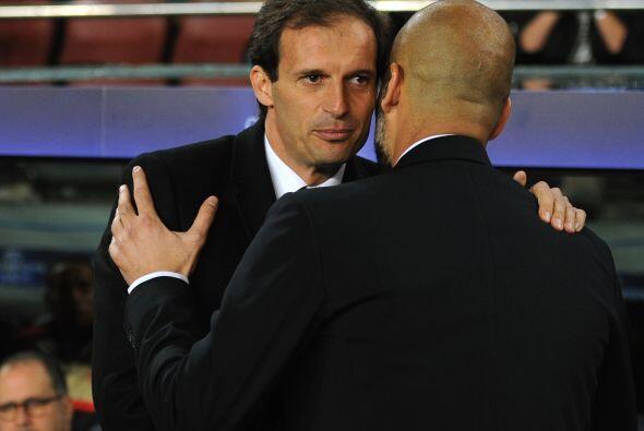 Los entrenadores, Josep Guardiola y Massimiliano Allegri, no perdieron o...