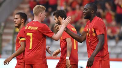 En fotos: Bélgica da un golpe de autoridad premundialista con triunfo 3-0 contra Egipto