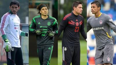 Jesús Corona, Guillermo Ochoa, Moisés Muñoz y Alfredo Talavera los arque...