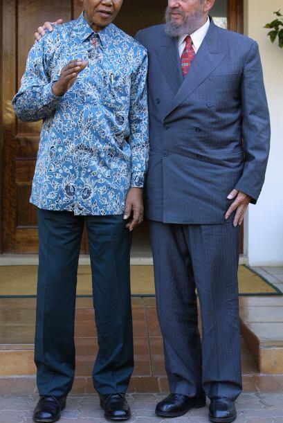 En La Habana, Cuba, Mandela parecía no tener palabras para agradecerle a...