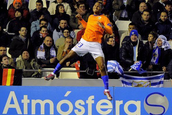 Rondón hizo el segundo del Málaga y parecía que habría sorpresa.