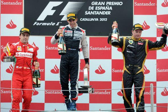 Pastor Maldonado estuvo acompañado por Fernando Alonso y Kimi Raikkonen,...