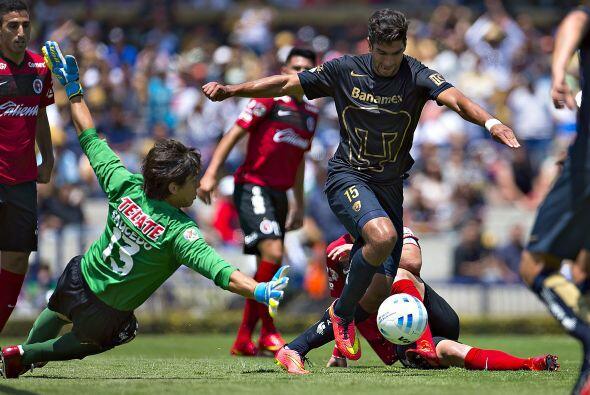 Otro punto positivo a destacar por parte de los Pumas fue la garra que r...