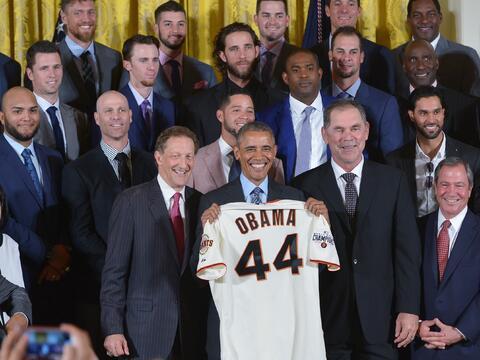 Obama recibió al equipo en la Casa Blanca por tercera vez en cinc...