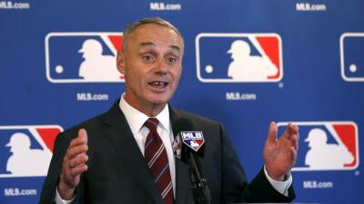Rob Manfred, el comisionado de la Grandes Ligas.