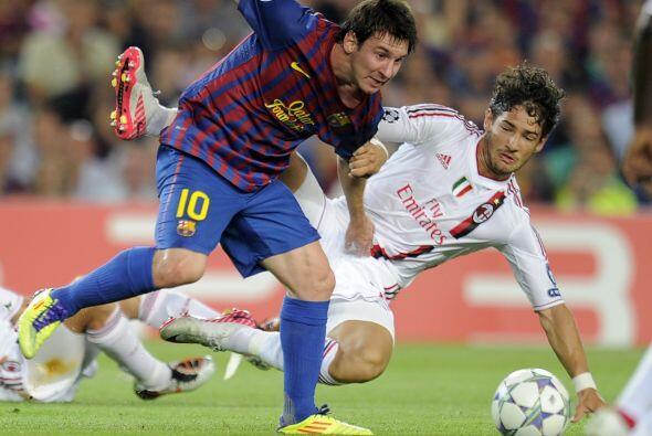 Pero Messi estaba 'encendido' y tuvo dos chances claras para empatar, pe...