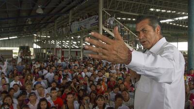 Jaime Rodríguez, conocido como El Bronco, durante un acto de campaña en...