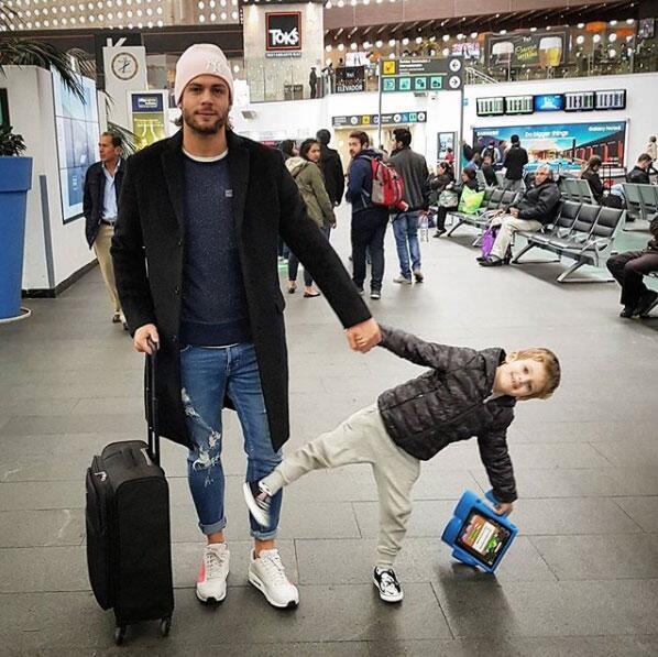 Horacio Pancheri y su hijo