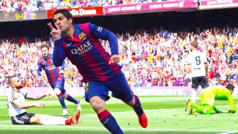 El uruguayo abrió el marcador en el Camp Nou para encaminar la victoria...