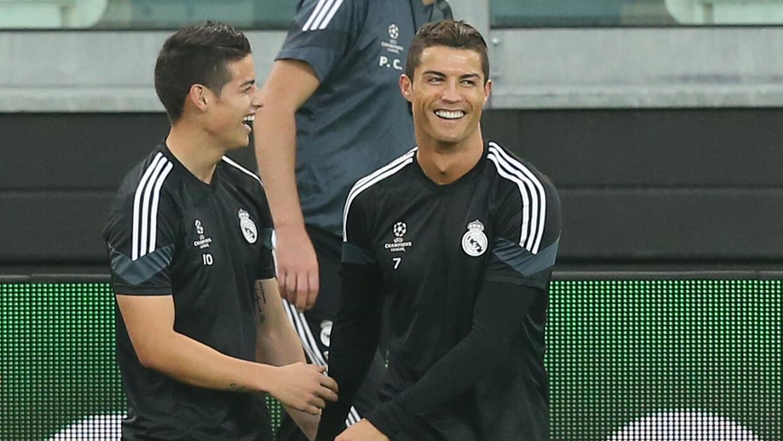 Cristiano Ronaldo y James Rodríguez