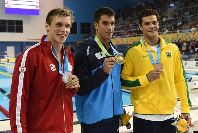 El nadador argentino Federico Grabich se apuntó el mayor éxito deportivo...