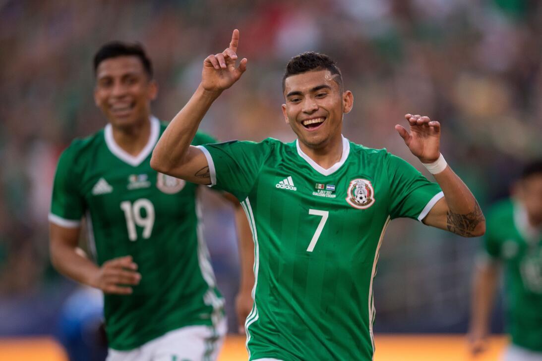El último en ingresar fue Orbelín Pineda con su gol ante El Salvador (Co...