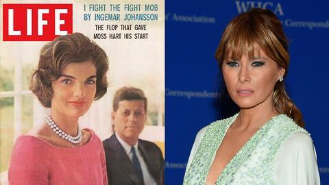Jackie Kennedy y Melania Trump