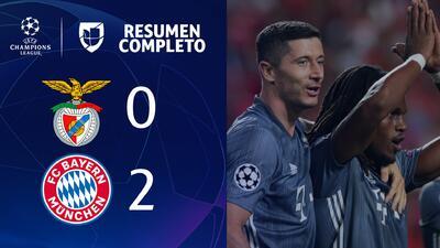 Benfica 0- 2 Bayern Munich - GOLES y RESUMEN - Grupo E Champions League
