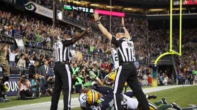 Esta es la supuesta atrapada de Golden Tate vs. los Packers.
