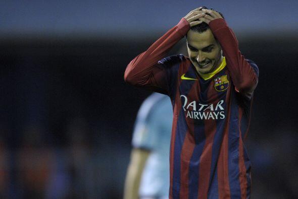 Pedro, otro de los jugadores que vio acción gracias a las rotaciones, pe...