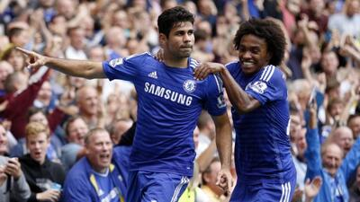 Diego Costa, Willian y Oscar anotaron los goles de la tarde.