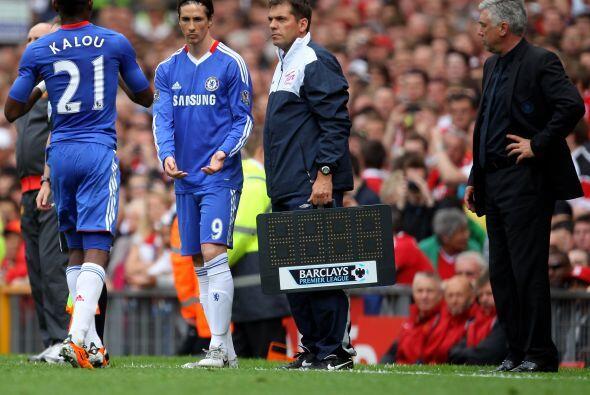 Por fin, el Chelsea se decidió por ingresar al campo al 'Niño' Tores.