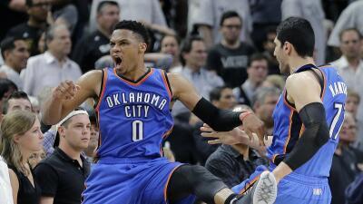 Westbrook aseguró el triunfo con una jugada de tres a segundos del final.