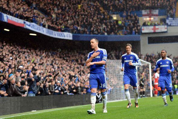 El capitán de los 'Blues' marcó el segundo tanto de su club y agradeció...