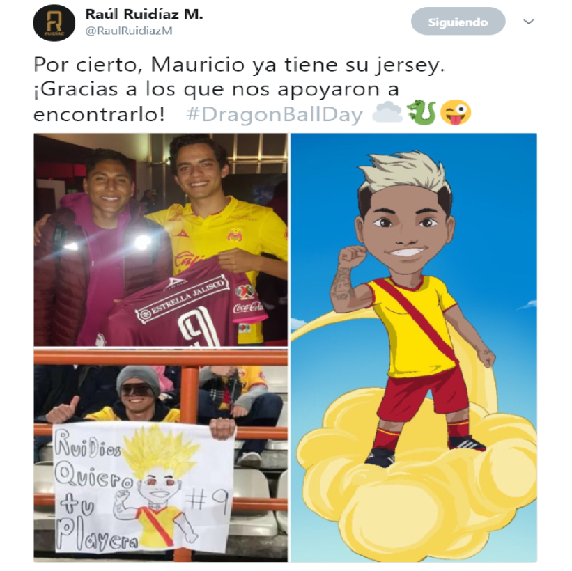 Raúl Ruidíaz, delantero de Monarcas, presumió el jersey que le regaló a...
